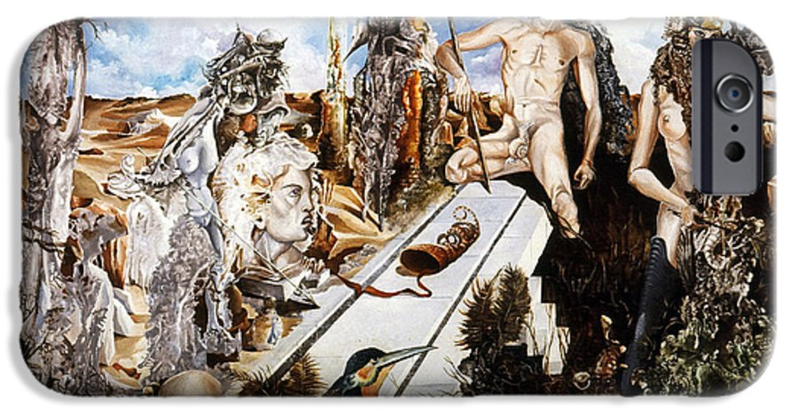 Surrealism IPhone 6 Case featuring the painting Bogomils Court by Otto Rapp