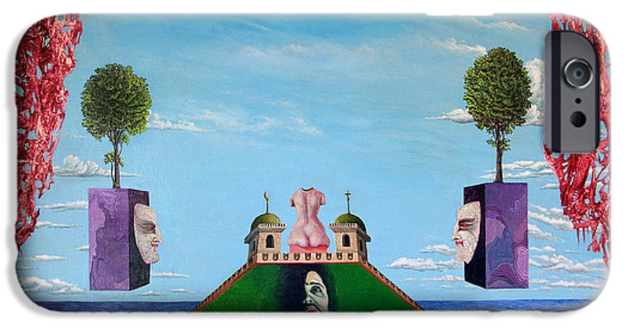 Painting IPhone 6 Case featuring the painting Bogomils Monastic Retreat by Otto Rapp