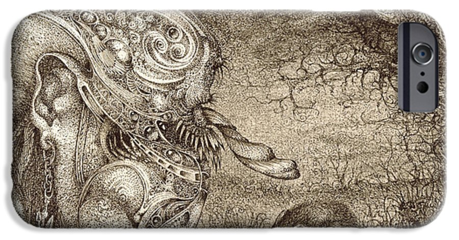 Surreal IPhone 6 Case featuring the drawing Bogomils Mousetrap by Otto Rapp