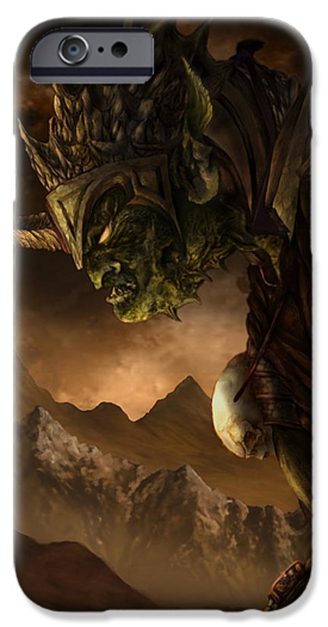 Goblin IPhone 6 Case featuring the mixed media Bolg The Goblin King by Curtiss Shaffer