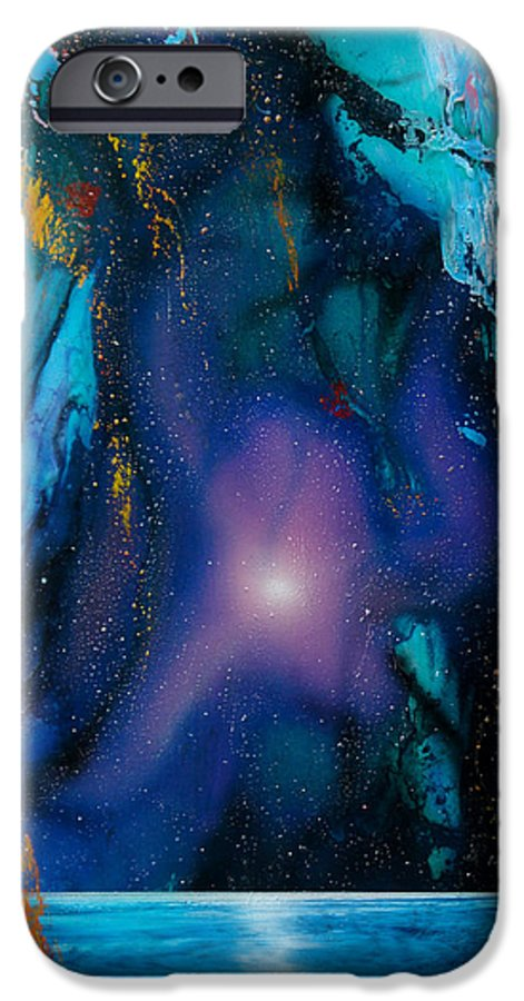 Nebula Caribe IPhone 6 Case featuring the painting Borealis by Angel Ortiz