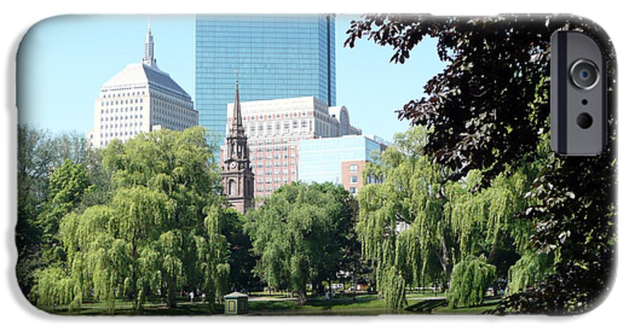 Garden IPhone 6 Case featuring the photograph Boston Public Garden by Kathy Schumann