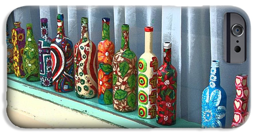 Bottles IPhone 6 Case featuring the photograph Bottled Up by Debbi Granruth