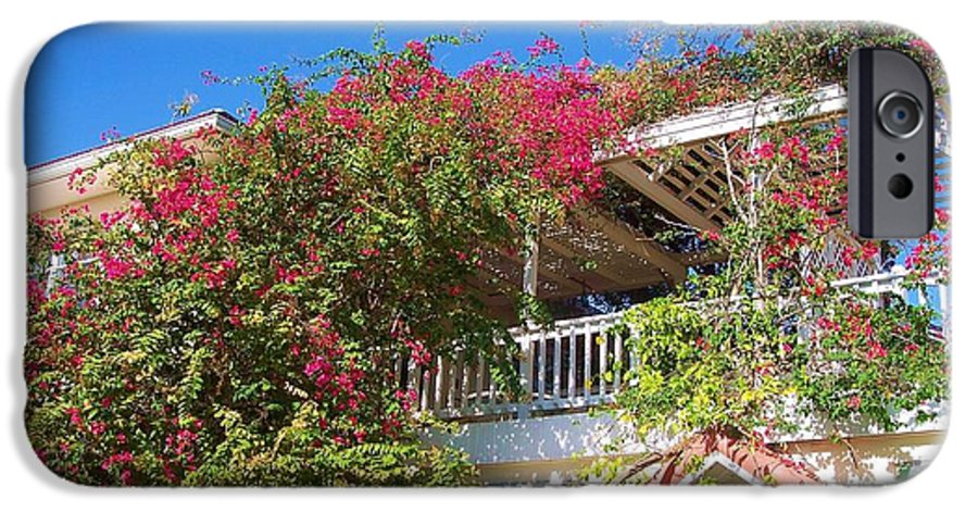 Flowers IPhone 6 Case featuring the photograph Bougainvillea Villa by Debbi Granruth