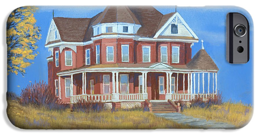 Boulder IPhone 6 Case featuring the painting Boulder Victorian by Jerry McElroy