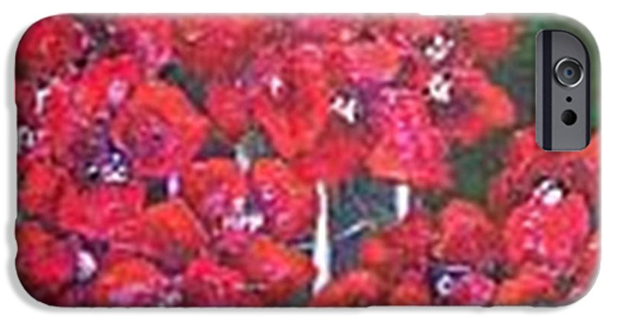 IPhone 6 Case featuring the painting Bounganvillia On Fence by Carol P Kingsley