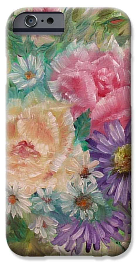 Rose IPhone 6 Case featuring the painting Bouquet 2 by Quwatha Valentine