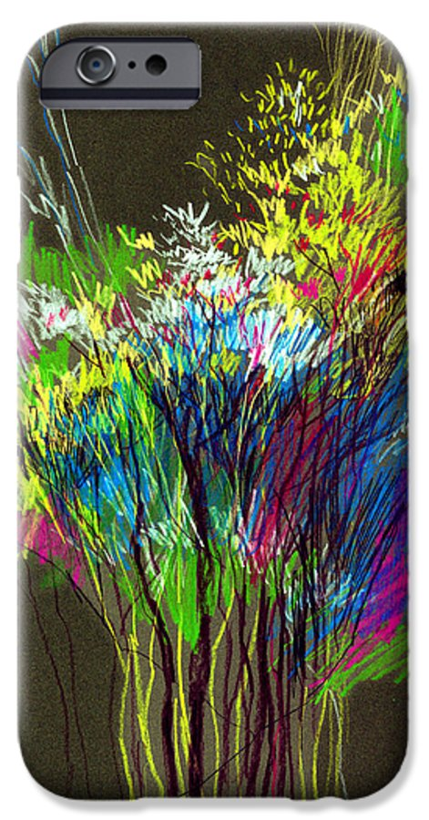 Flowers IPhone 6 Case featuring the painting Bouquet by Anil Nene