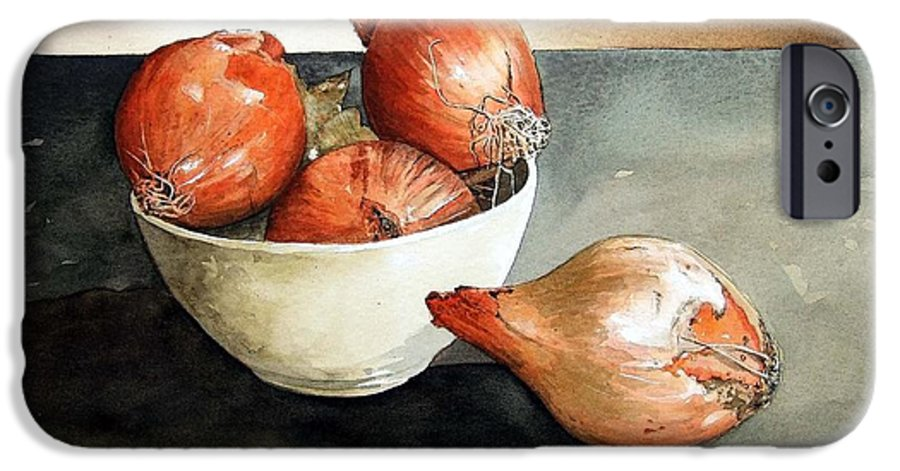 Still Life IPhone 6 Case featuring the painting Bowl Of Onions by Paul Dene Marlor