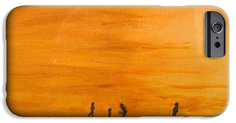 Boys IPhone 6 Case featuring the painting Boys At Sunset by Ian MacDonald