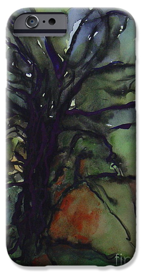 Tree Landscape Abstract Watercolor Original Blue Green IPhone 6 Case featuring the painting Branching by Leila Atkinson