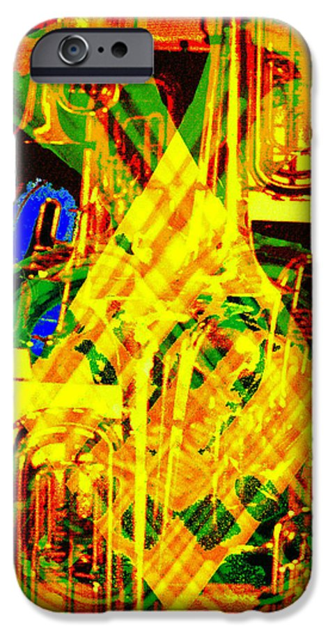 Festive IPhone 6 Case featuring the digital art Brass Attack by Seth Weaver