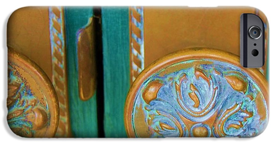 Door IPhone 6 Case featuring the photograph Brass Is Green by Debbi Granruth