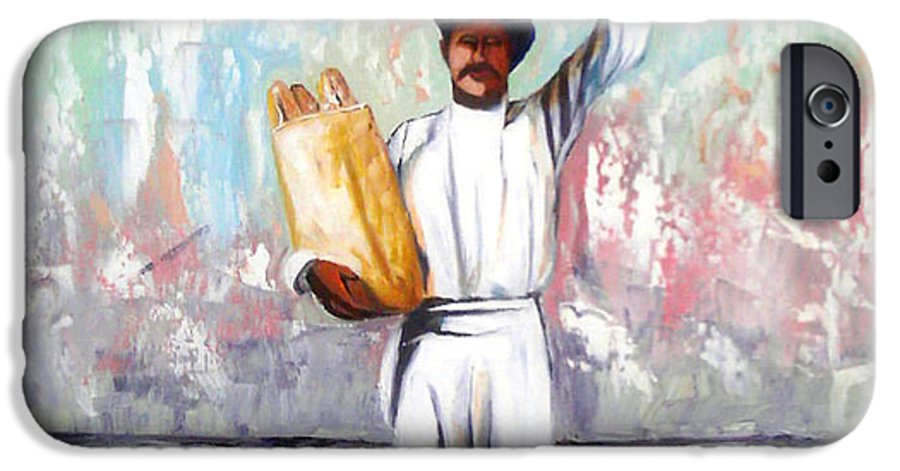 Bread IPhone 6 Case featuring the painting Breadman by Jose Manuel Abraham