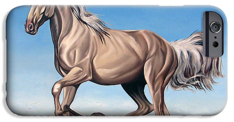 Horse IPhone 6 Case featuring the painting Breeze by Ilse Kleyn