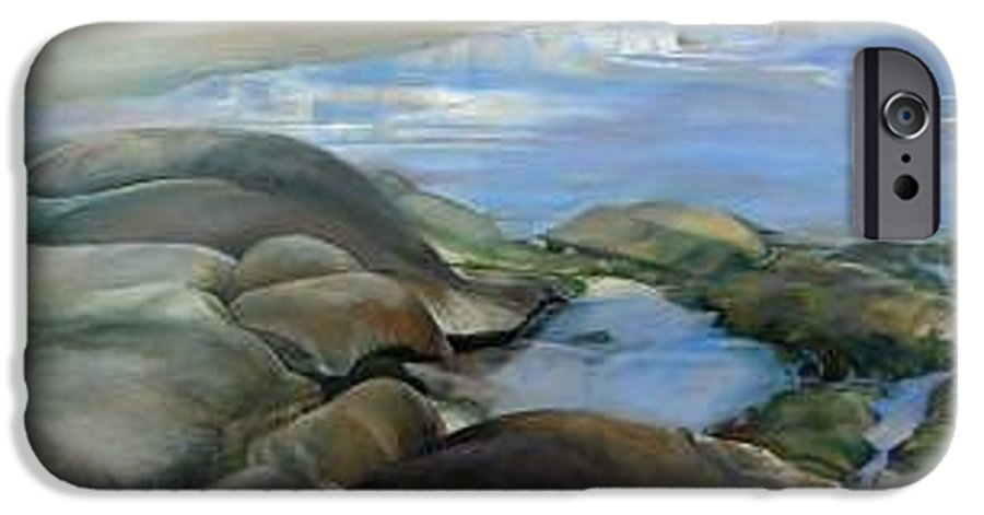 Paysage IPhone 6 Case featuring the painting Bretagne 1 by Muriel Dolemieux