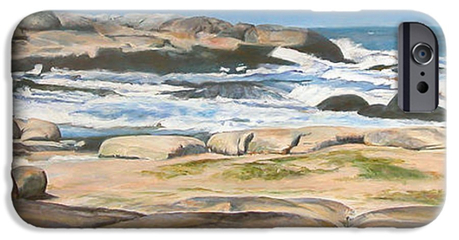 Paysage IPhone 6 Case featuring the painting Bretagne 2 by Muriel Dolemieux