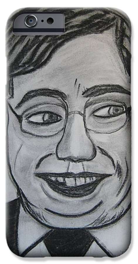 Art Artroger Roger Cummiskey Charcoal IPhone 6 Case featuring the painting Brian Cowan by Roger Cummiskey