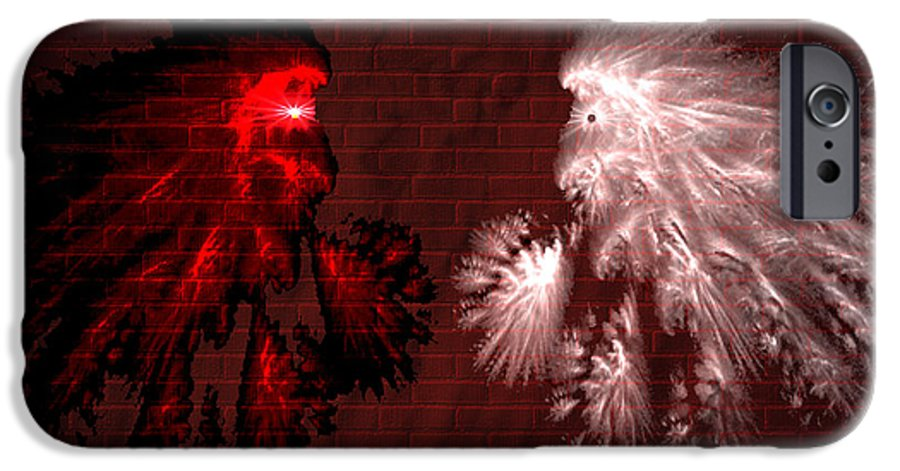 War IPhone 6 Case featuring the digital art Brick Graffiti by Evelyn Patrick