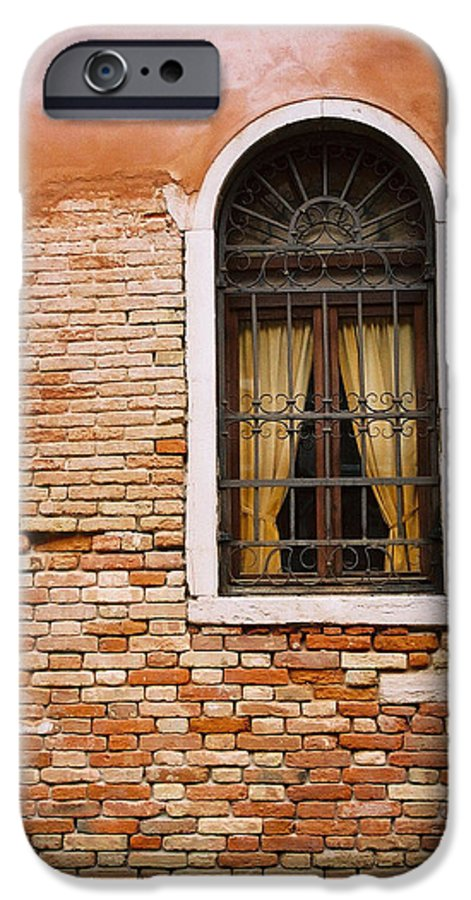 Window IPhone 6 Case featuring the photograph Brick Window by Kathy Schumann