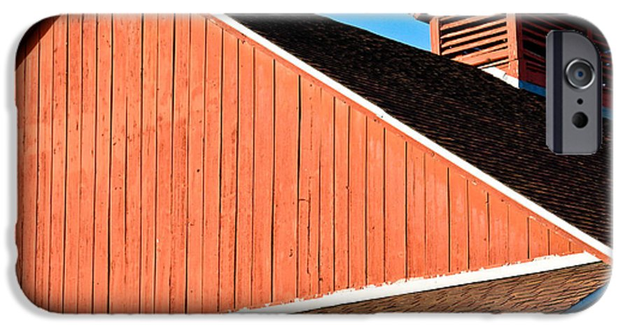 Americana IPhone 6 Case featuring the photograph Bright Red Barn by Marilyn Hunt
