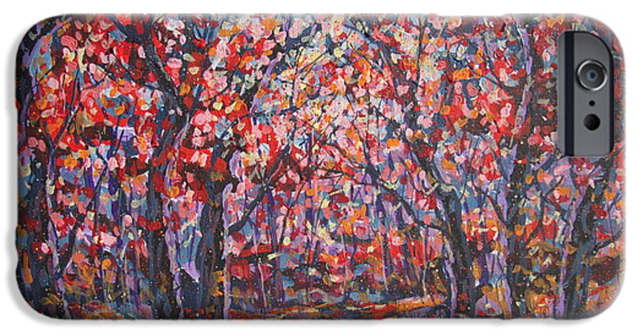 Forest IPhone 6 Case featuring the painting Brilliant Autumn. by Leonard Holland
