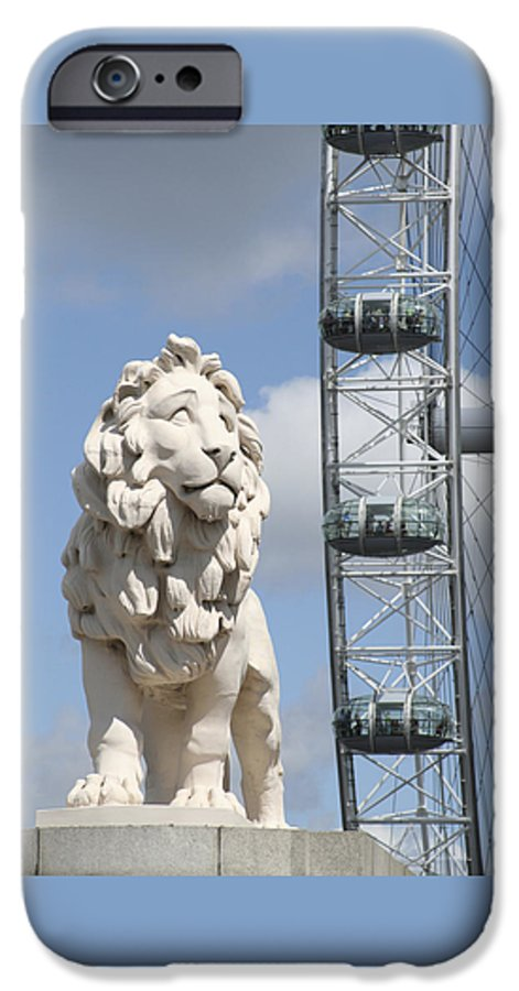 Lion IPhone 6 Case featuring the photograph Britannia Lion by Margie Wildblood