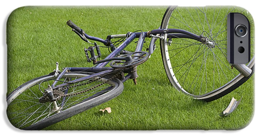 Wheel IPhone 6 Case featuring the photograph Broken Bicycle by Carl Purcell