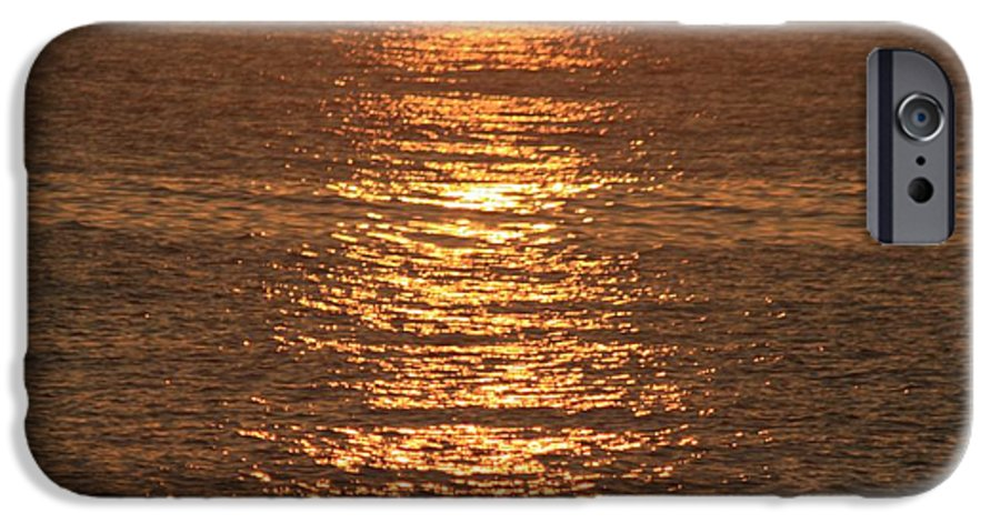 Ocean IPhone 6 Case featuring the photograph Bronze Reflections by Nadine Rippelmeyer