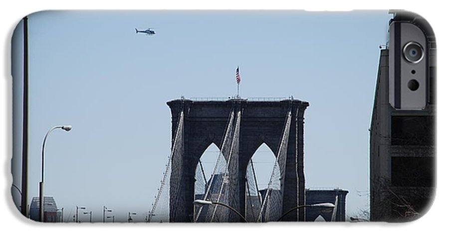 Architecture IPhone 6 Case featuring the photograph Brooklyn Bridge by Rob Hans