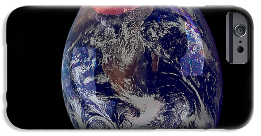 Earth IPhone 6 Case featuring the photograph Bubble Earth by Jim DeLillo