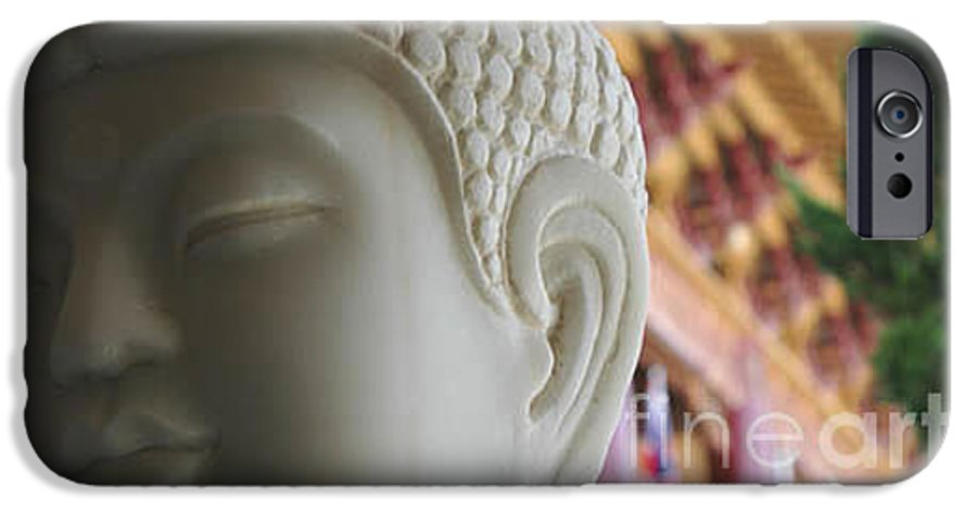 Zen IPhone 6 Case featuring the photograph Buddha At Hsi Lai Temple by Michael Ziegler