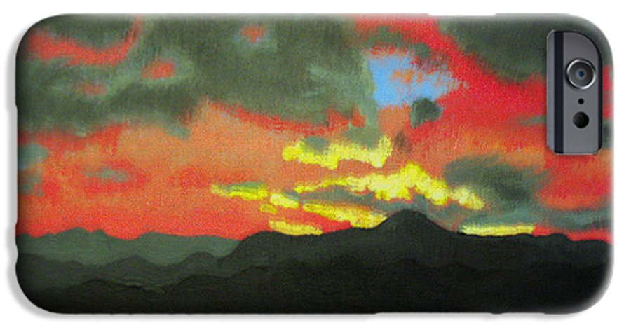 Sunset IPhone 6 Case featuring the painting Buenas Noches by Marco Morales