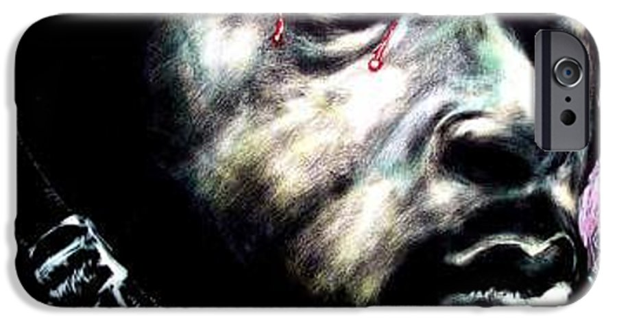 Soccial Commentary IPhone 6 Case featuring the mixed media Buffaloed by Chester Elmore