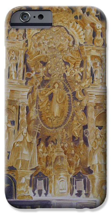 Saints IPhone 6 Case featuring the painting Builders' Guild by Nik Helbig