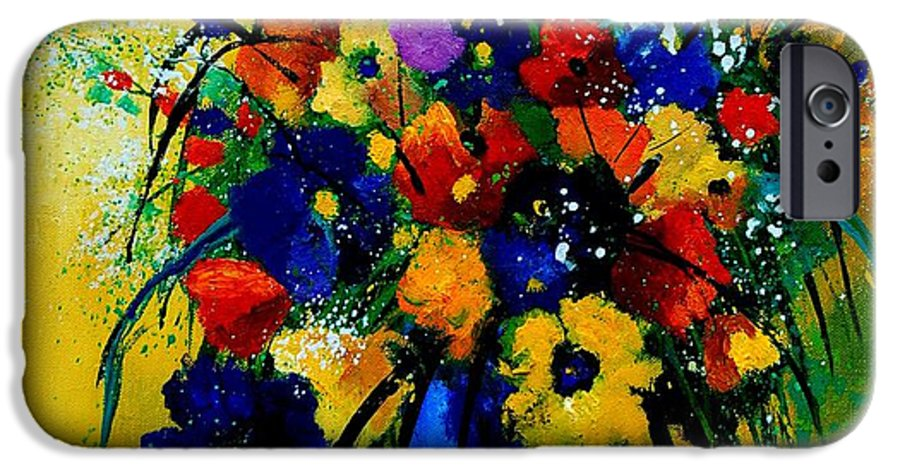 Poppies IPhone 6 Case featuring the painting Bunch 0508 by Pol Ledent