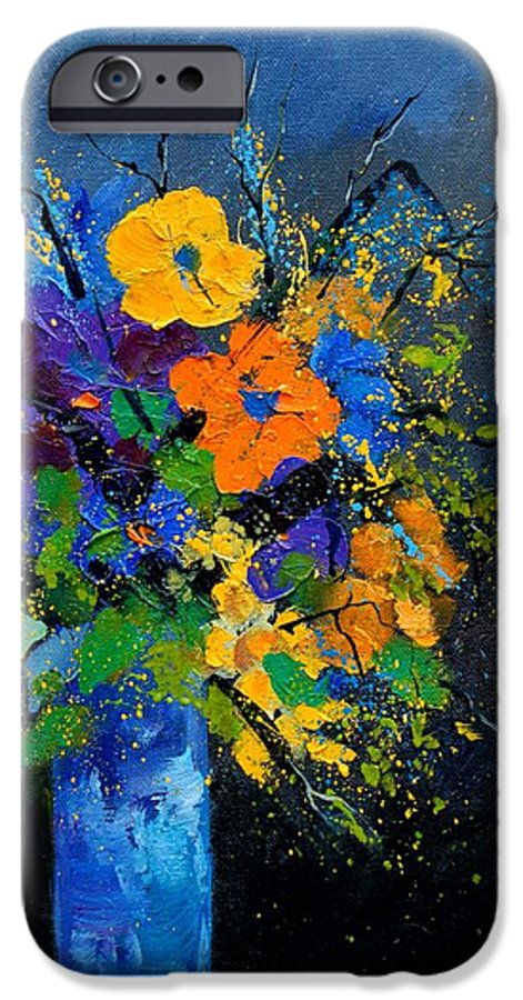 Poppies IPhone 6 Case featuring the painting Bunch 1007 by Pol Ledent