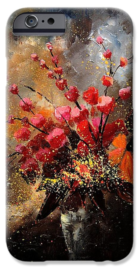 Poppies IPhone 6 Case featuring the painting Bunch 1207 by Pol Ledent