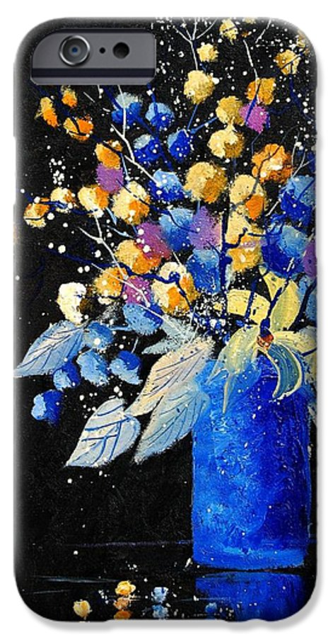 Flowers IPhone 6 Case featuring the painting Bunch 451008 by Pol Ledent