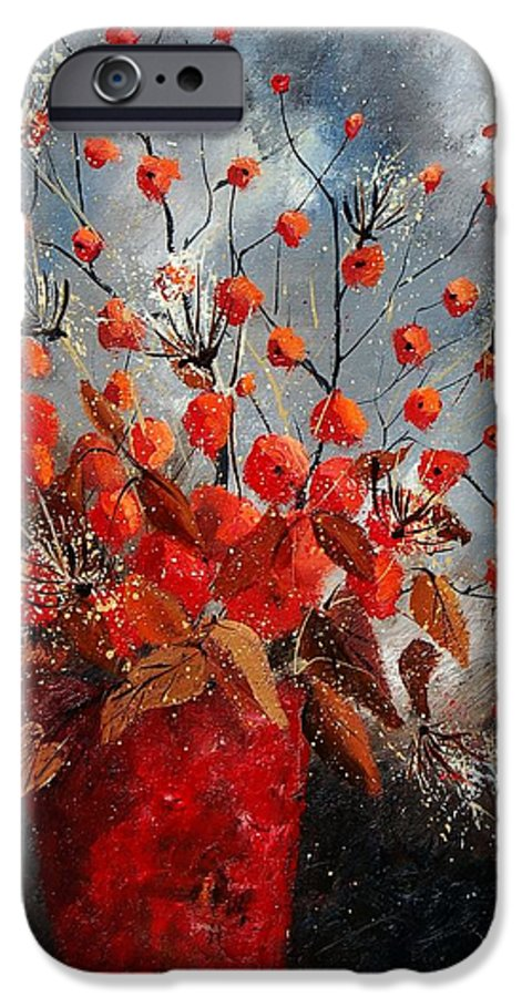 Flowers IPhone 6 Case featuring the painting Bunch 560608 by Pol Ledent
