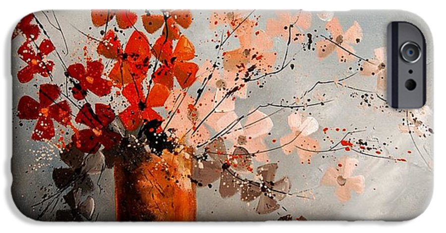Flowers IPhone 6 Case featuring the painting Bunch 670908 by Pol Ledent