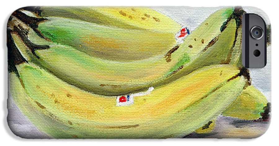 Still-life IPhone 6 Case featuring the painting Bunch Of Bananas by Sarah Lynch