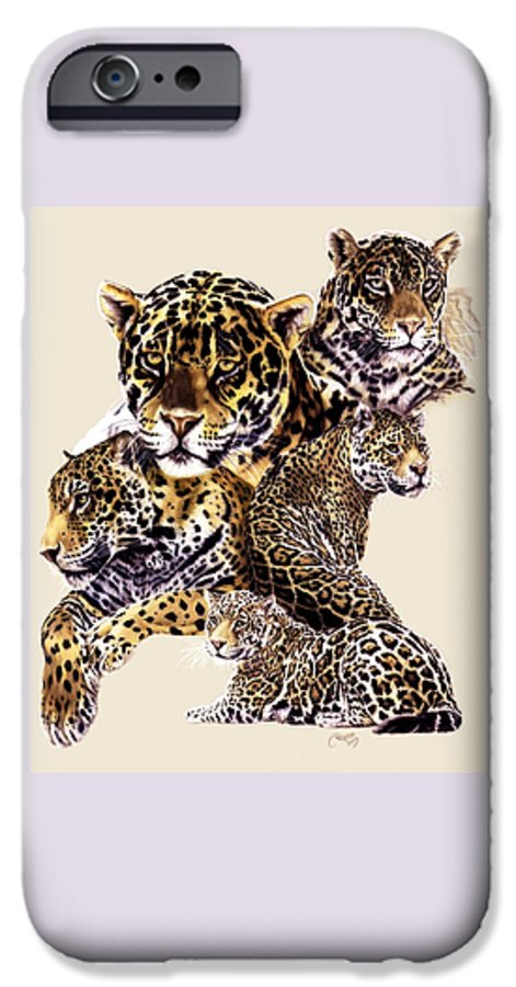 Jaguar IPhone 6 Case featuring the drawing Burn by Barbara Keith
