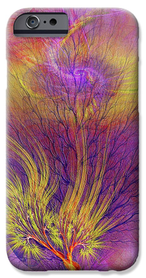 Burning Bush IPhone 6 Case featuring the digital art Burning Bush by John Beck