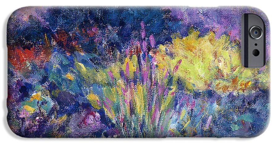 Impressionism IPhone 6 Case featuring the painting Burst Of Color-last Night In Monets Gardens by Tara Moorman
