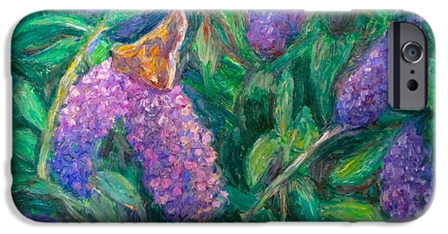 Butterfly IPhone 6 Case featuring the painting Butterfly View by Kendall Kessler