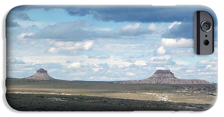 Big Sky IPhone 6 Case featuring the photograph Buttes by Margaret Fortunato