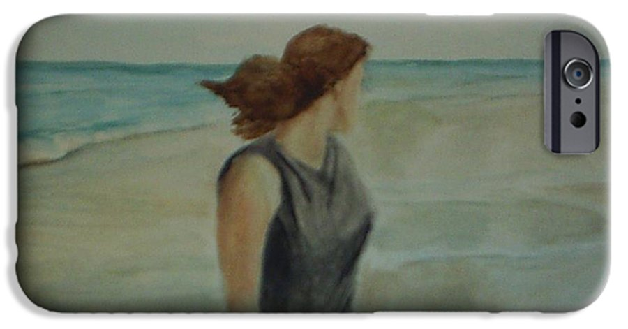 Ocean IPhone 6 Case featuring the painting By The Sea by Sheila Mashaw