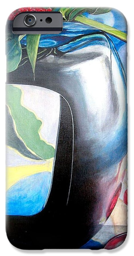 Nature-morte IPhone 6 Case featuring the painting Cadre by Muriel Dolemieux