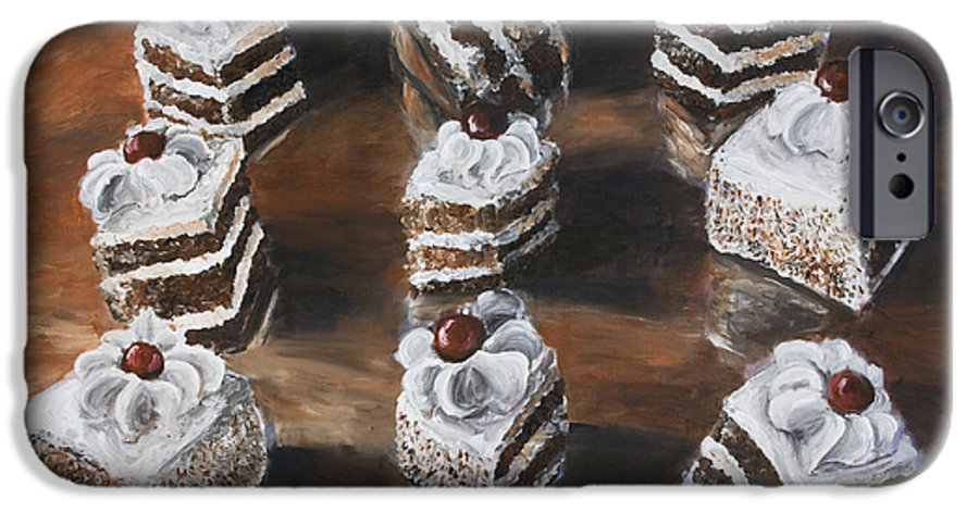 Cake IPhone 6 Case featuring the painting Cake by Nik Helbig